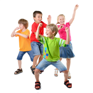 Happy-children-dancing-healthy-life-kids-togetherness-and-happiness-concept